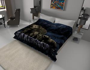 Solaron Original Pack of Bears Korean Mink Soft Plush King Size Blanket Blue
