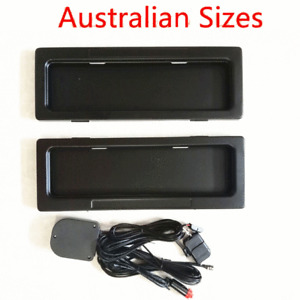 2pcs AU Car License Plate Frame Holder Electric Roll Up Shutter Covers w/ Remote