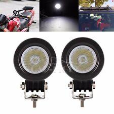 2x 10W Cree LED Work Light Flood Offroad Driving Fog Lamp Motorcycle 4WD 12V 24V