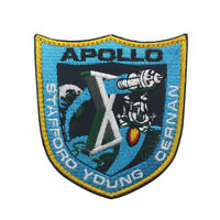 APOLLO 10 LION BROTHERS VINTAGE ORIGINAL NASA CLOTH BACK SPACE HOOK PATCH MINT