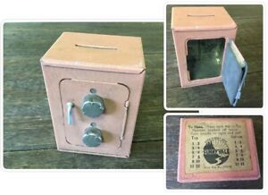 Vintage Metal Money Box - Safe Design - Sunnyvale - Combination Lock & Lever