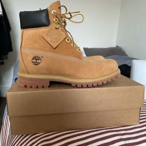 Timberland Premium 6 Inch Men's Boots - Wheat, Size 7.5