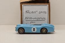 """KIT MONTÉ TALBOT LE MANS 1953 #8 HECO-MODELES pour """"LA BAGNOLE"""" 1/43 ÉTAT NEUF"""