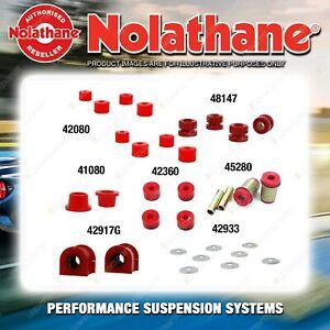 Front Nolathane Suspension Bush Kit for MAZDA E SERIES E2000 E2200 2WD 1984-2006