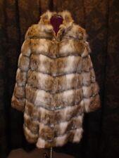 Amazing Salyers Fabulous Furs NEW Russian Wolf Faux Fur Chevron Stroller Coat XL