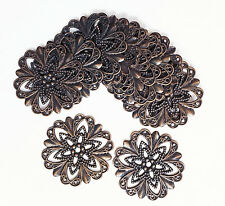 Bulk 200 stamping flower connector,brass filigree focal 20mm  available  5colors