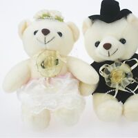 Lovely couple White dots skirt wedding Teddy Bear stuffed animals wedding gifts