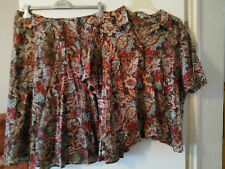 DW shop 50 52 54 Kleid zweiteilig Bluse XXL+ Rock XXL Blumen