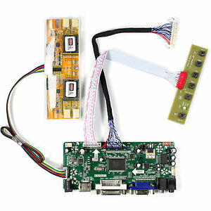 "HD MI DVI VGA Audio Control Board For 17"" 19"" M170EG02 HSD190ME13 1280x1024 LCD"