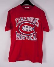*+* Montreal Canadiens T Shirt 80s Vintage 1989 Single Stitch Size S *C1027a2