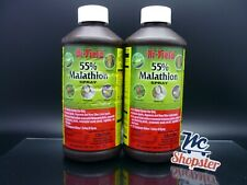 Hi Yield 55% Malathion Insect Spray 2 Bottles 16 oz (Total 32oz) 32029