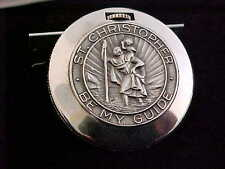 Unusual Elgin St.Christopher Sterling Silver Coin Watch All Original
