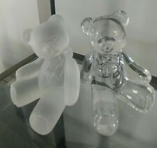 New ListingLenox Crystal Teddy Bear Figurines First Edition Cute & Cuddly(Set of 2)