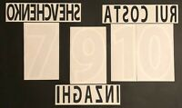 KIT NOME+NUMERO UFFICIALE AC MILAN 3rd UEFA CUP 2001-2002 official nameset