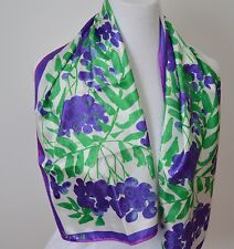 Vera Neumann Lilac Flowers Scarf Abstract Floral Purple 14 x 43 Graphic Floral