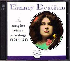 Emmy DESTINN 1878-1930 Complete Victor Recordings 2CD Aida Tannhäuser Tosca