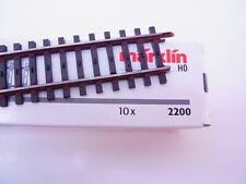 65819 | Märklin H0 2200 10 Stück Gerades Gleis 180mm K-Gleis gealtert in OVP