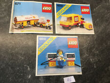 Lego  3 kleine ältere Bauanleitungen 671,6610,6651 (only instruction, no bricks)