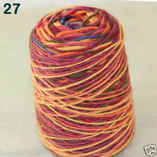 Sale 500gr NEW 1 Cone Yarn Chunky Hand Knitting Colorful Soft Wool Cashmere