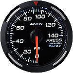 DEFI White Racer Oil Fuel Pressure Gauge WHITE PSI DF06603