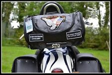 Rool Borsa in cuoio Flessibile Live To Ride Aquila per sissy bar moto custom