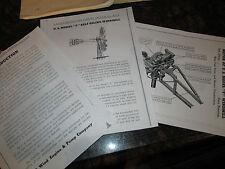 USWE  Model F  Windmill Diagrams & Trade Literature