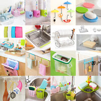Kitchen Storage Rack Holder Sink Drainer Bathroom Shelf Soap Sponge Organizer