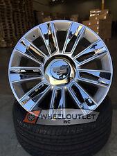 "22"" Rims & Tires 2016 Platinum Silver Chrome Wheels Cadillac Escalade EXT ESV 24"