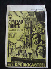 HAUNTED PALACE movie poster VINCENT PRICE ROGER CORMAN Original Belgium poster
