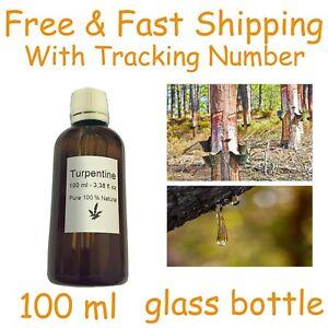 Turpentine 100 ml medicinal 100 % Natural PURE Gum Spirits Turpentine Pine resin