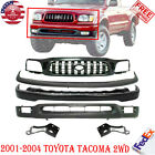 Front Bumper Paintable Upper Valance Grille For 2001-2004 Toyota Tacoma 2wd