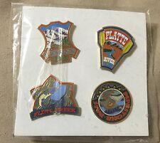 4 Lapel / Hat Pins US Rivers Flint Creek Sliderock  Platte  Pipestone Pass New