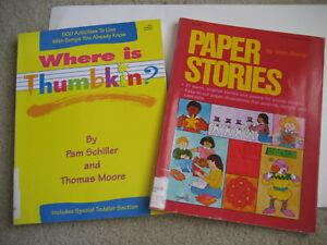 2 Story Activity Books WHERE IS THUMBKIN PAM SCHILLER Paper Stories FUN IDEAS