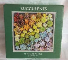 """Succulents 500 Piece Jigsaw Puzzle New 20""""x 20"""" by Galison"""