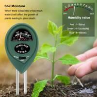 3 Ways Soil PH Tester Water Moisture Light Test Meter Plants Humidity Probe