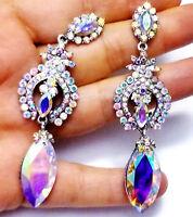 Chandelier Earrings Rhineston Crystal 3.2 in AB