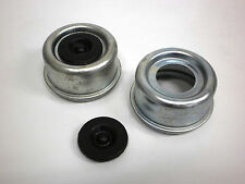 TWO - 2.44 Trailer Axle Dust Cap Cup Grease Cover RV Camper EZ Lube