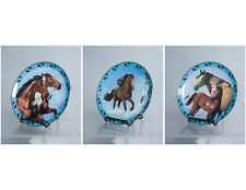 Set of 3 Danbury Mint Horse Collector Plates by Diana Beach Spirited Visions