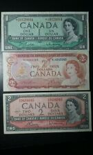 CANADA 1 STAR BANKNOTE AND 2 DOLLARS 1954 AND 1974