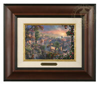 Thomas Kinkade Studios Lady and the Tramp Framed Brushwork (Burl Frame)