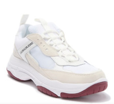 Calvin Klein Marvin Chunky Jeans Trainer White Shoes For Men Size 8