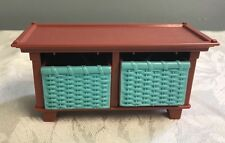 Fisher Price Loving Family Twin Time Nursery Furniture Toy Box Bench