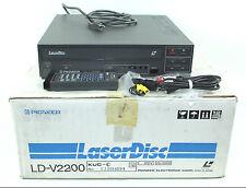 Laserdisc Player Pioneer LD V-2200 (V2200) w/Remote & Box RARE NEW OPEN BOX