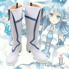 Sword Art Online SAO ALO Asuna Yuuki Asuna Boot Party Shoes Cosplay Boots