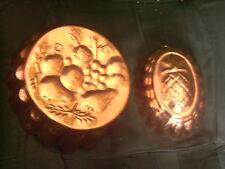 Ensemble de 2 moules à gâteaux décoratifs en cuivre à suspendre