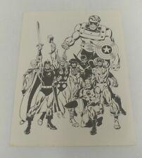 1970 RARE Avengers Marvel Comics Poster Print Marvelmania 11 x 8.5 Jack Kirby