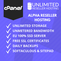 1 Year Unlimited Alpha Reseller Hosting, cPanel & WHM, Free SSL, Domains, B/W