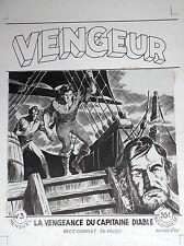Superbe planche originale par  Ortiz Moya Pour la couverture Vengeur N° 3 Artima
