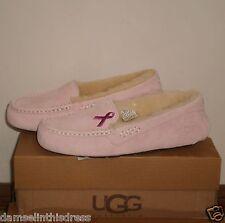 UGG Australia ANSLEY Pink Ribbon Cancer Awareness Edition Slipper PINK 8US *NIB