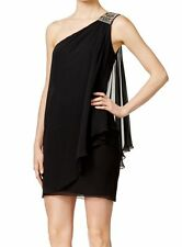 Calvin Klein One-Shoulder Draped Sheath Dress size 16